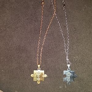 Set of King and Queen necklaces